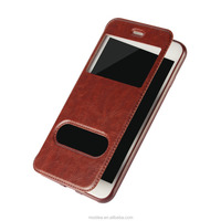 Business Style Leather Flip Mobile Phone Cover Case Leather Phone Case for Iphone 7