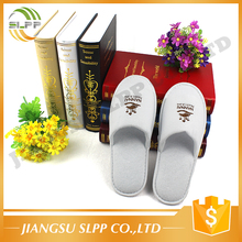 Competitive price terry cloth open toe hotel slipper