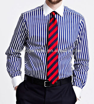 Men 39 s slim fit white collar french cuff dress shirt buy for French cuff slim fit dress shirt