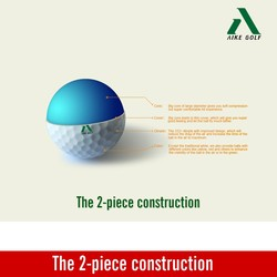 2 layers golf practice balls