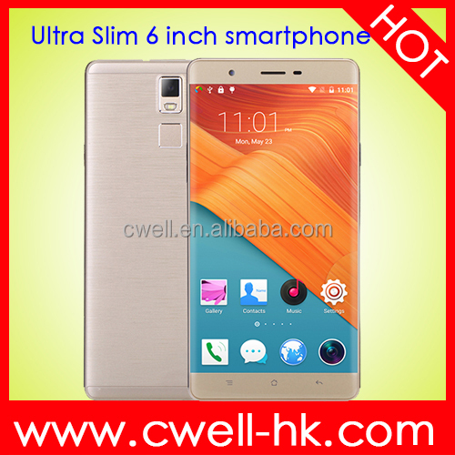 Ulim R8S CNC Metal Frame Quad Core 6 Inch Android 5.1 WIFI GPS Ultra-slim bar touch screen mobile phone