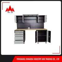 72 inch 5 drawers Workbench Drawer Garage Stainless Steel Bench Wood