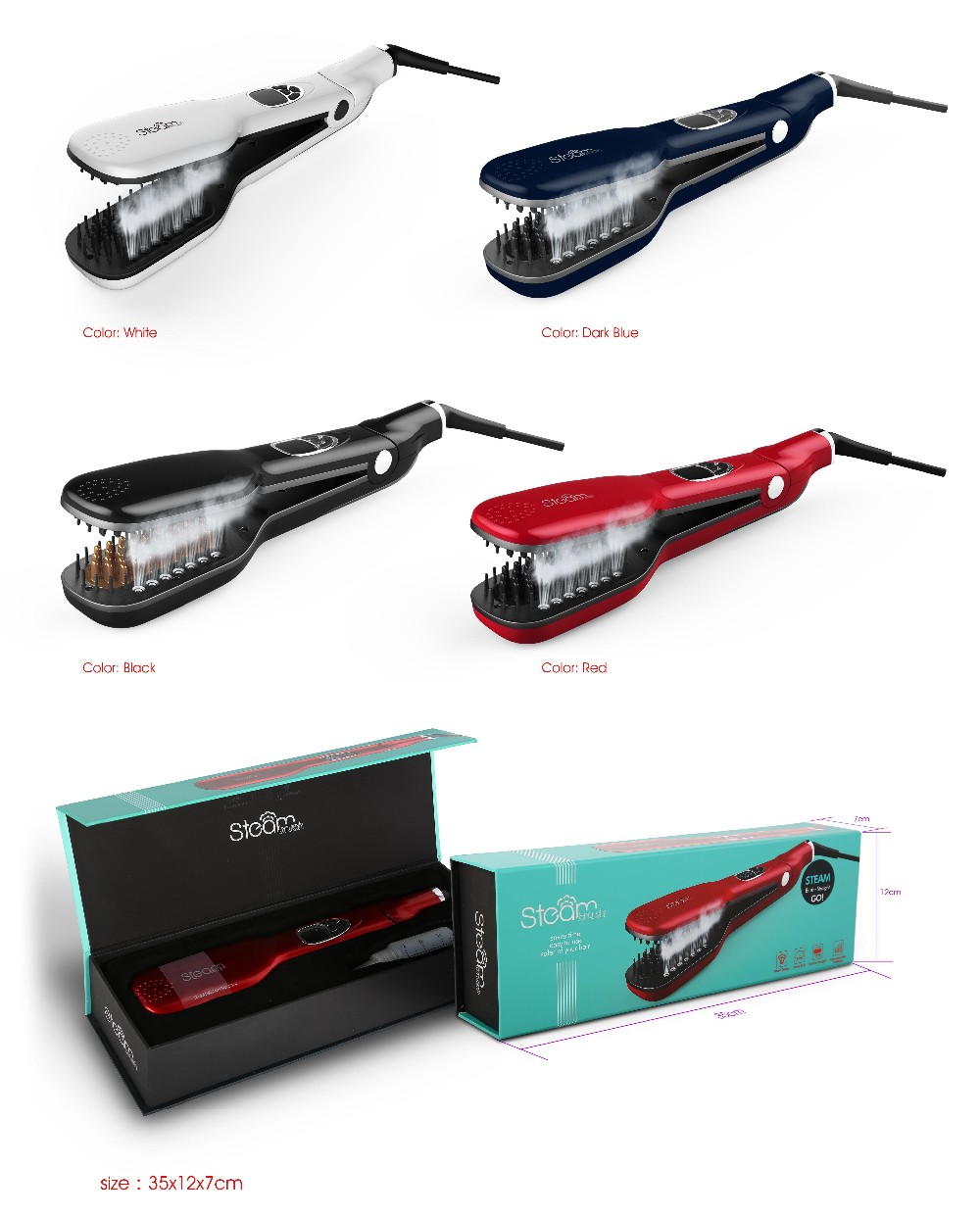 Advanced Steam Comb Hair Flat Iron Straightener Buy Hair