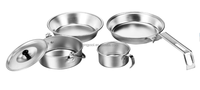 P05006-60 5pcs outdoor anodized aluminum happy baron cookware set