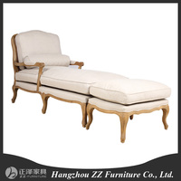 Wood carved antique leisure lounge chair