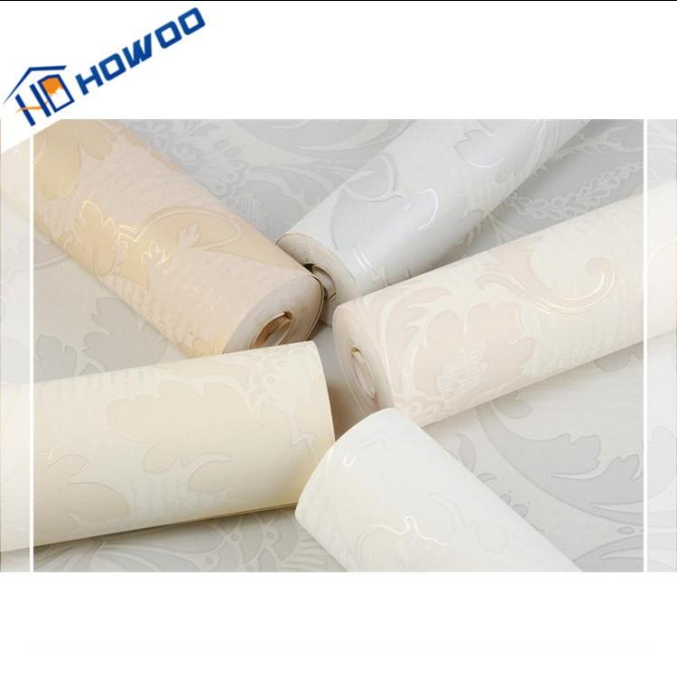 Howoo bathroom design waterproof thick italian vinyl for Vinyl waterproof wallpaper