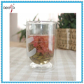 Hot sale double wall glass thermos tea cup