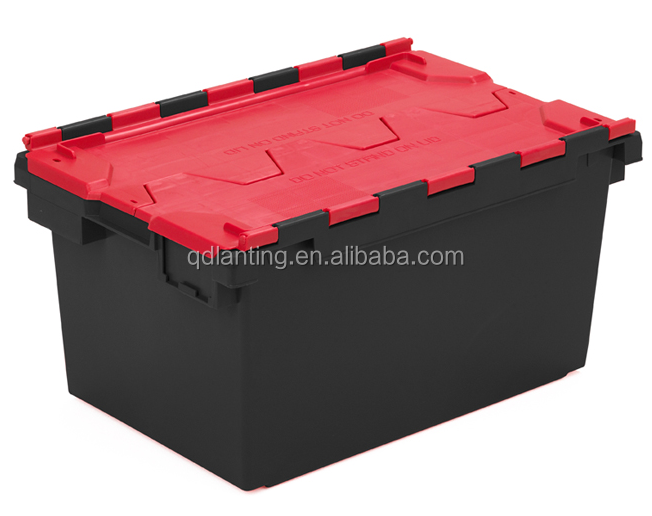 Stackable Moving Plastic Box/Industrial Moving Totes