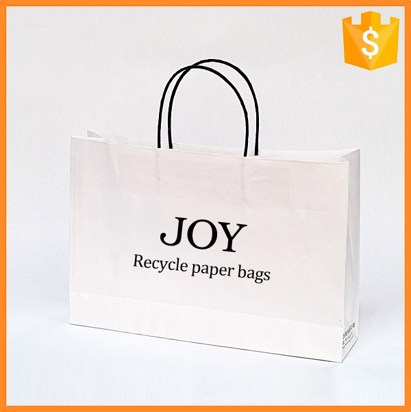 Best quality custom printed J-Fixed kraft paper pouch for shopping bag
