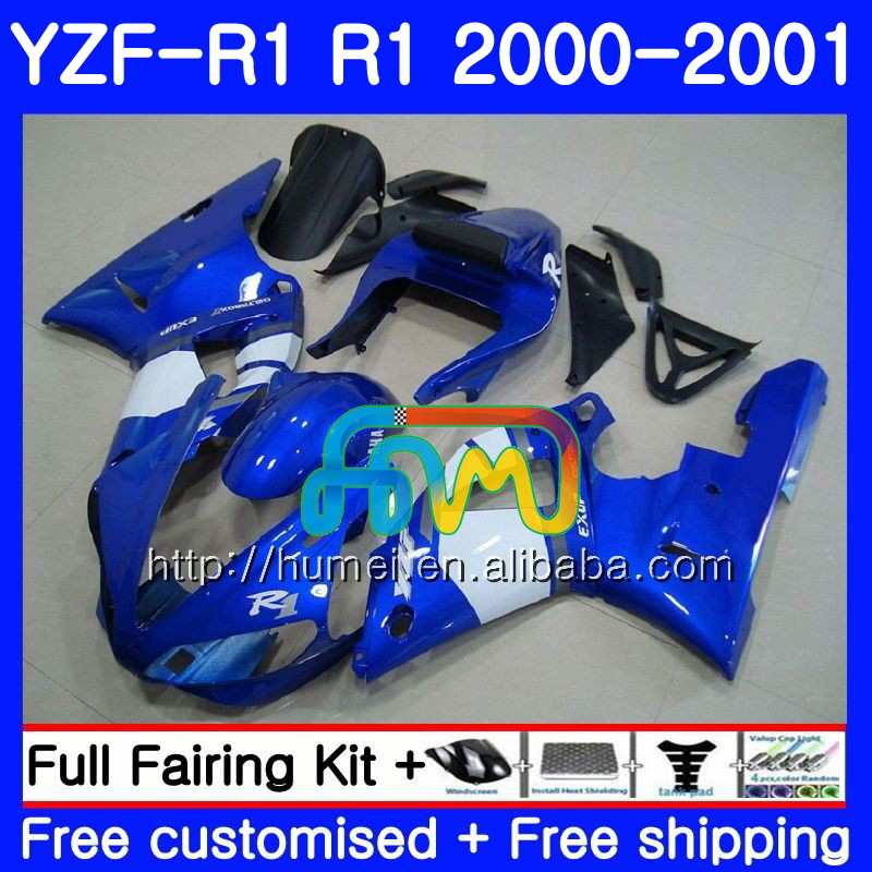 Bodywork For YAMAHA YZF 1000 YZF-<strong>R1</strong> 2000 gloss blue 2001 Body 98HM44 YZF1000 YZF R 1 YZFR1 <strong>00</strong> <strong>01</strong> YZF-1000 YZF <strong>R1</strong> <strong>00</strong> <strong>01</strong> Fairing