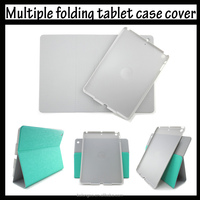 Ultra-thin tablet case 360 degree rotation multiple folding tablet case