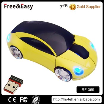2.4gzh 1200dpi wireless click racing car computer mouse