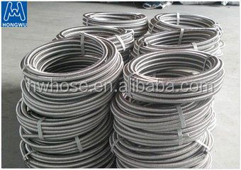 DN 10 to DN40 SS 304 316l type annular flexible metal hose pipe for water and gas system
