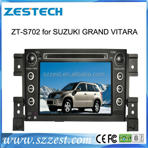 oem dvd wholesales suzuki grand vitara 2 din car dvd player with gps blutooth support iphone 5S/ 6 mp3 mp5 usb sd amplifier