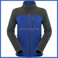 Casual plain 100%polyester polar fleece jacket with chest pocket