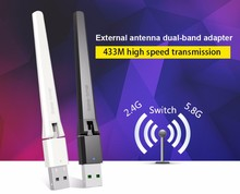 802.11ac wireless usb dongle high speed MT7610 with 2dBi antenna for wifi satellite receiver