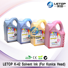 original!!!letop outdoor printer solvent konica 42pl ink
