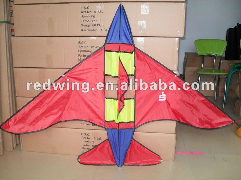 Red Promotion Power Plane Shaped Kite ,DIY Kite