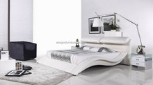 2015 latest bed designs,genuine leather bed