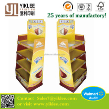 Paper material cardboard dump bins advertising display for KISSES Chocolates