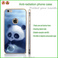 Panda phone case aluminum frame plastic cover for mobile phone anti-radiation function