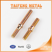 Yellow Zinc Plated Carbon Steel Threaded Rod with Washer