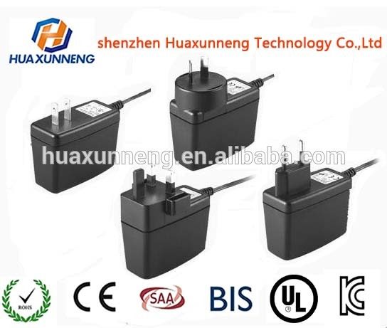 High quality wall charger adapter 12V 2A AC/DC adapter 24W power supply