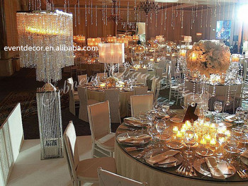 Perfect Wholesale Cheap Large Silver Square Crystal Table Centerpiece