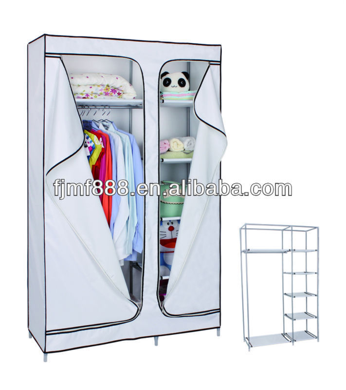 Home Furniture Double White Multi Layer Foldable Cupboard