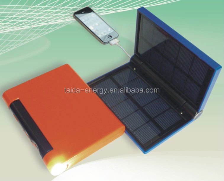 Power Bank for Camping Solar Cell Phone Charger with USB socket