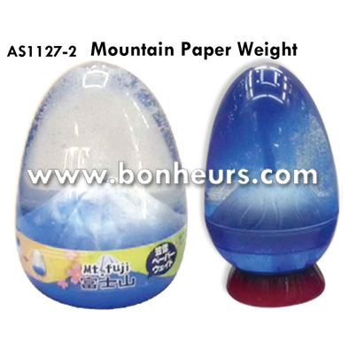 New Novelty Toy Egg Shape Japan Mount Fuji Mountain Paper Weight