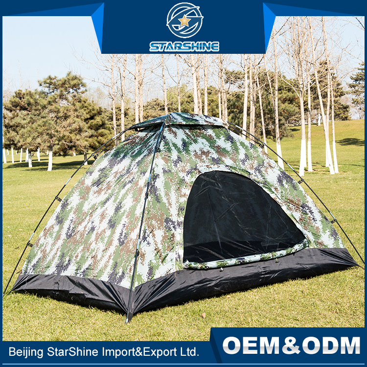 Customized Printed Outdoor Party Camping Tents 1-2 people Single Layer Wind Rain Shade Tent