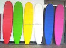 6'' 7'8' 9' 11'soft softboard, high density eps core and ixpe deck hdpe bottom surfboard, eva rail tri fin surfboard