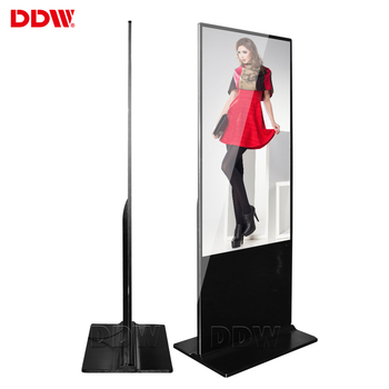 Hot 43 inch lcd media player floor standing digital signage menu boards lcd advertising display wifi lcd screen maker ads