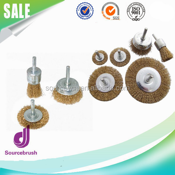 Cup 3mm Rotary Brass Wire Wheel Polishing Brush for Tool Drill Rust Weld Grinder