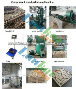 hydraulic compressed mould wood pallet making machine