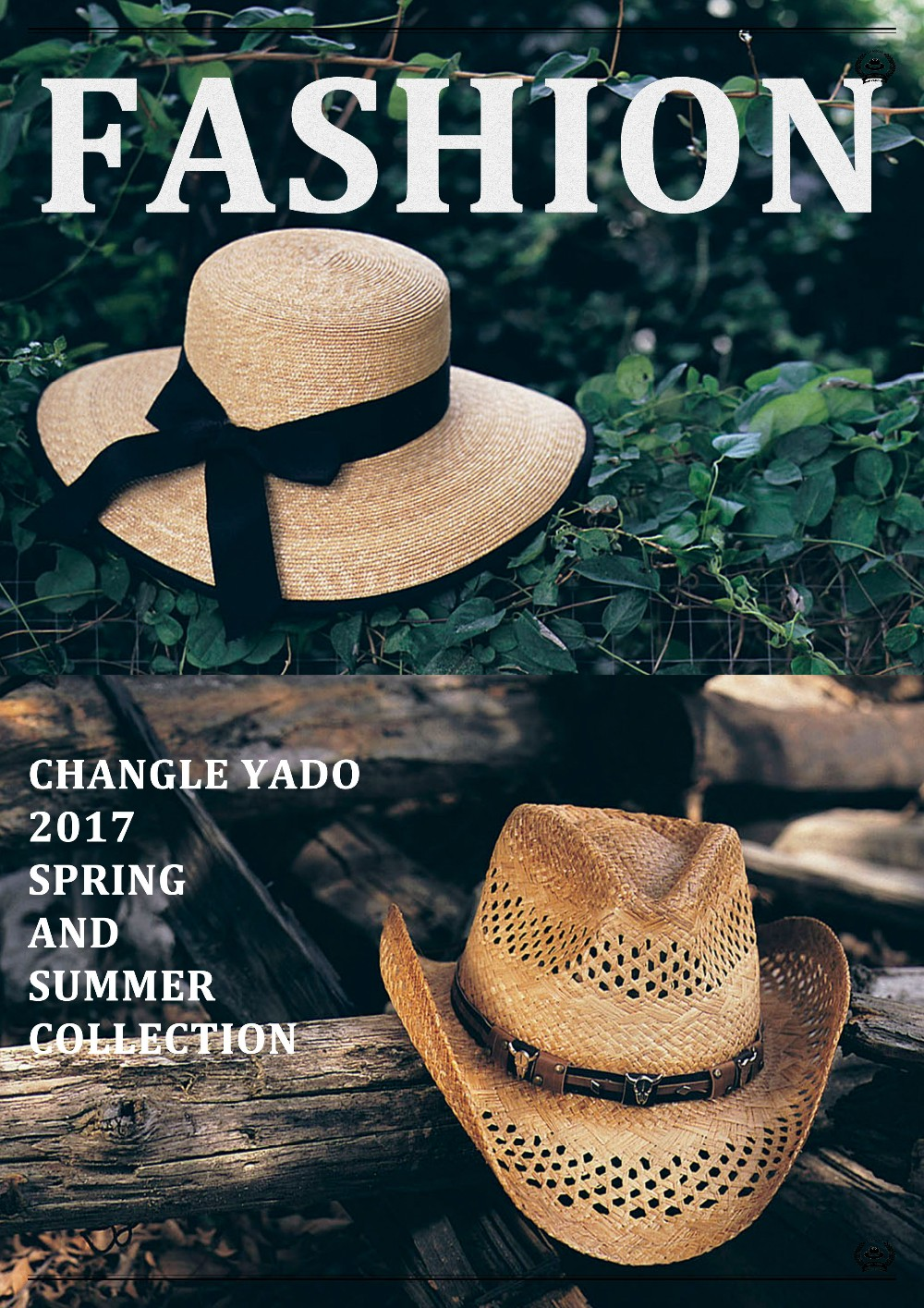 T50-27AFashion Style Cheap Wholesale Paper Hat Fedora Hat