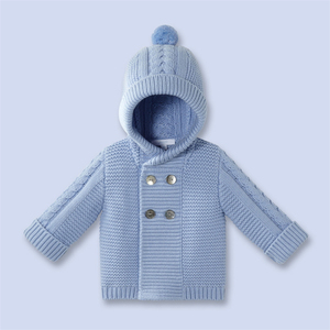 Winter Baby Boys Knitting Cardigan Coat Knit Hoodies Jacket
