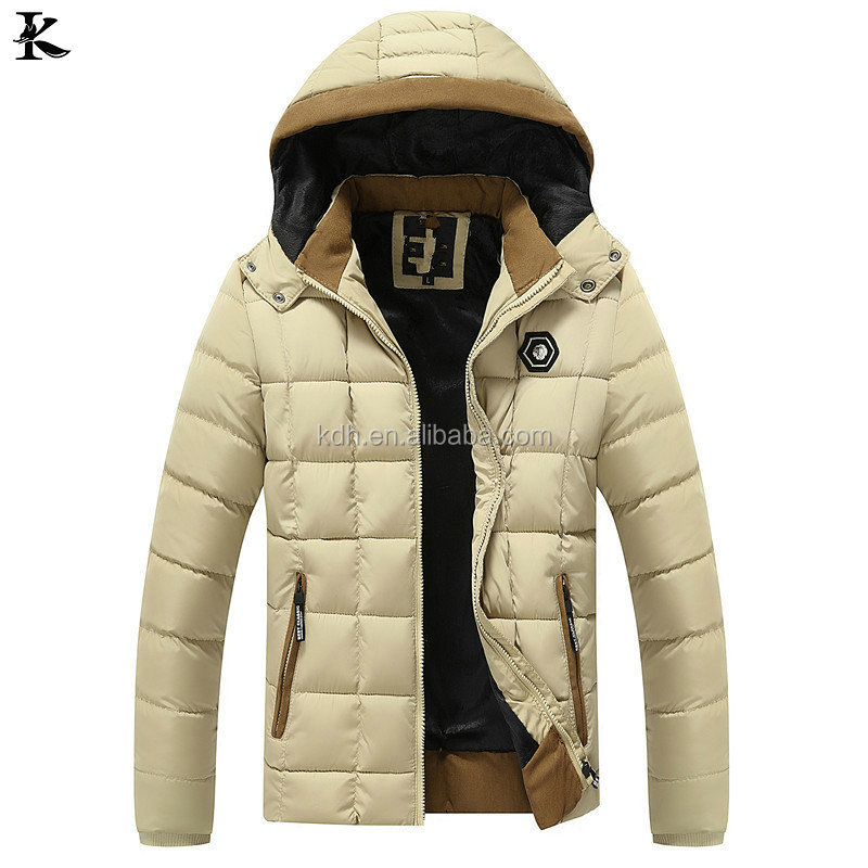 Oem High Quality Green Colour 100%nylon Customize Men Winter Soft Shell Padded Jacket