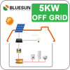 Bluesun easy install 5000 watts solar panel for home use with storage batteries