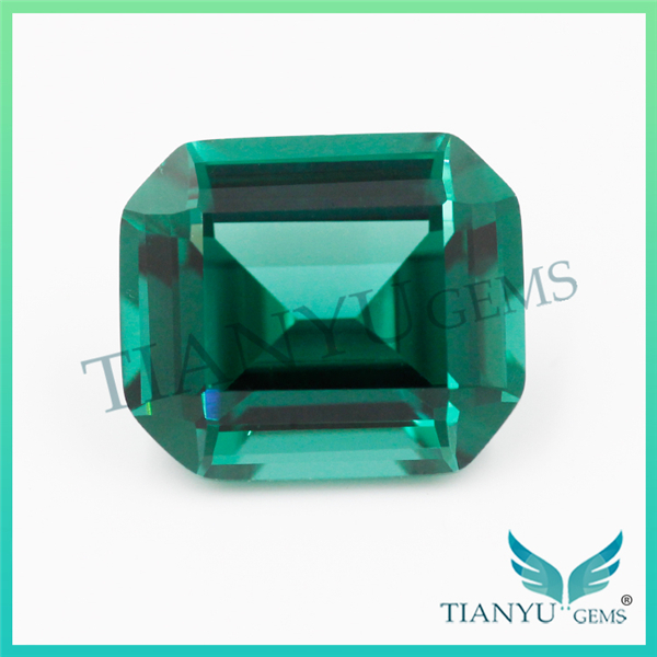 Free Samples Wholesale Gemstone for Jewelry Synthetic #22 Emerlad Cut Nano Sital Gems Price