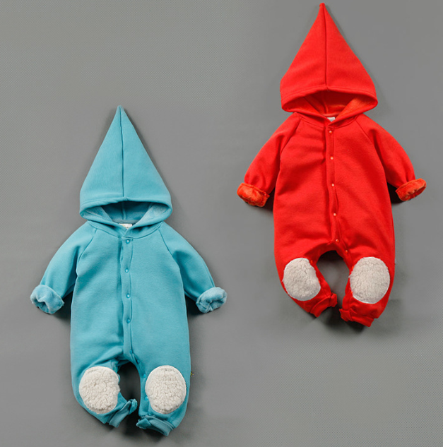 latest cute red romper bodysuit baby romper with hoodies