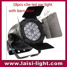 High uqality 18pcs 3W LED PAR Light wiith barn door,18*3w stage led light/LED Par COLOR 18*3W LED Par Light