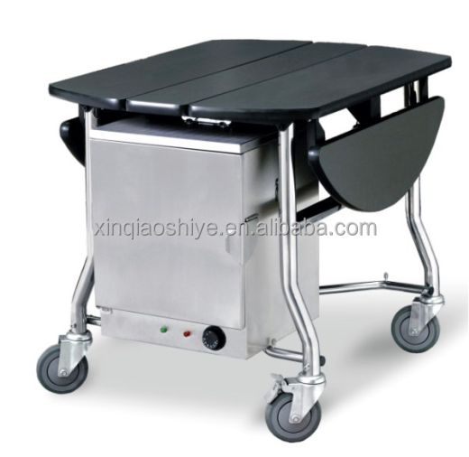 Room service trolley hotel food service trolley mobile for Hotel room service cart
