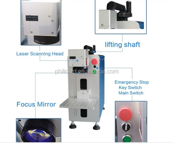 High speed CNC 10W 20W 30w metal fiber portable laser machine