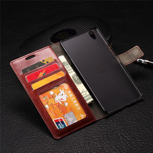 For one plus x Wallet Flip Crazy Horse Leather Money Clip Cover Phone Case with Photo Frame