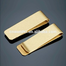 Wholesale high quality titanium color metal money clip