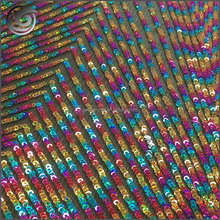 High-end customized rainbow color reversible sequin fabric