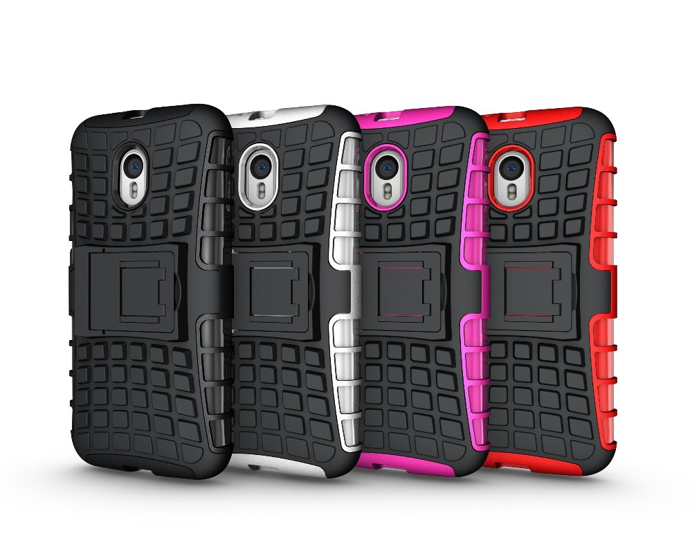50pcs/lot Heavy Duty Shockproof Hybrid Case with Stand for <strong>Motorola</strong> Moto G 3rd Moto G3