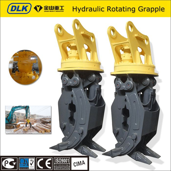 hot sale excavator grapple hydraulic log grapple with 360 degree rotation